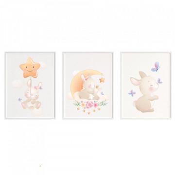 Set 3 tablouri - Iepurasii
