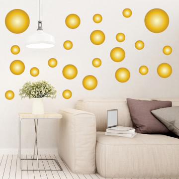 Set stickere decorative perete - Cercuri11, 60x60cm