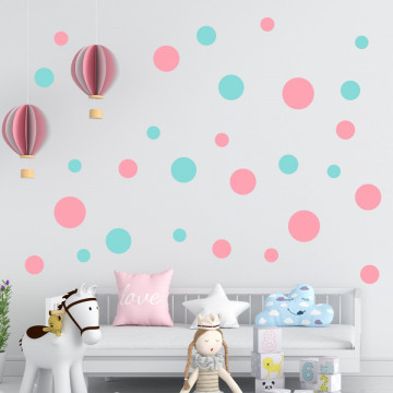 Set stickere decorative perete - Cercuri19, 60x60cm