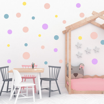 Set stickere decorative perete - Cercuri21, 60x60cm