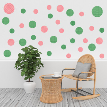 Set stickere decorative perete - Cercuri6, 60x60cm