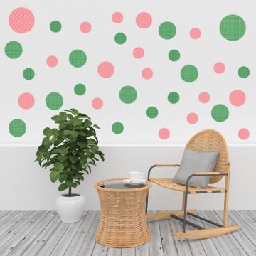 Set stickere decorative perete - Cercuri6, 60x60cm