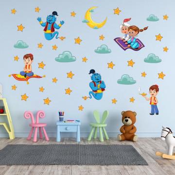 Set stickere decorative perete copii - Aladdin 2 planse 60x90