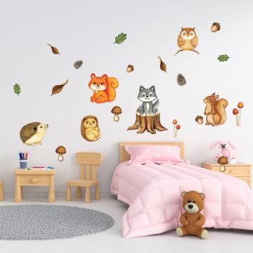 Set stickere decorative perete copii - Animale in Padure2 , 60x90cm