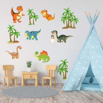 Set stickere decorative perete copii - Dinozauri 60x90cm