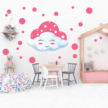 Set stickere decorative perete copii - Norisor roz