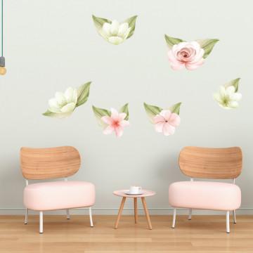 Set stickere decorative perete - Flori 1, 60x90cm