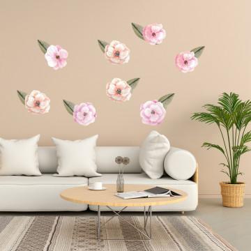 Set stickere decorative perete - Flori 4, 60x90cm