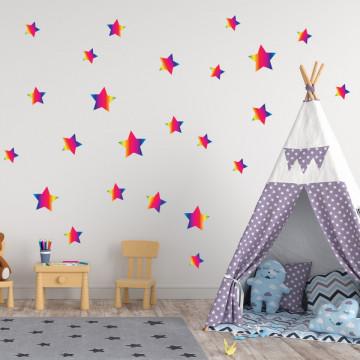 Set stickere decorative perete - Stelute 13, 60x60cm