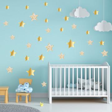 Set stickere decorative perete - Stelute 18, 60x60cm