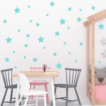 Set stickere decorative perete - Stelute 8, 60x60cm