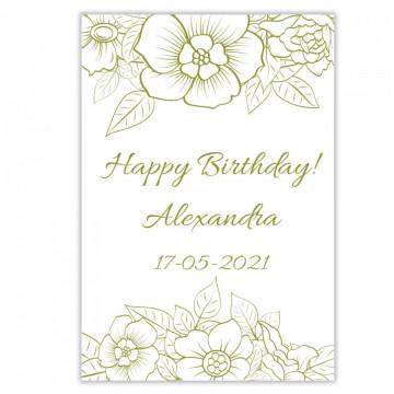 Sticla vin Personalizata - Happy Birthday