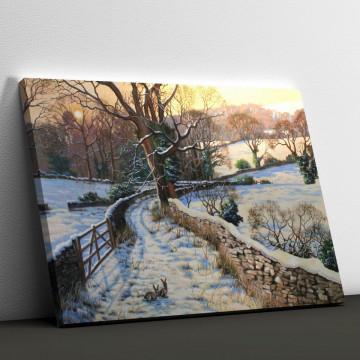 Tablou Canvas, Iarna in natura