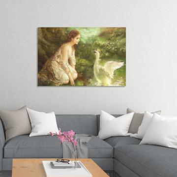 Tablou Canvas, Lebada & Fata