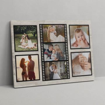 Tablou Canvas personalizat cu 7 poze - Rola de film
