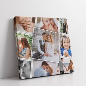 Tablou Canvas personalizat cu noua poze