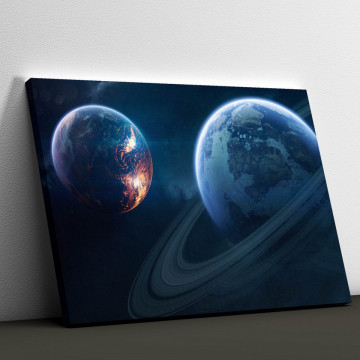 Tablou Canvas, Planete neexplorate
