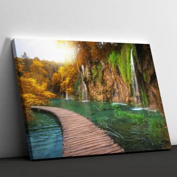 Tablou Canvas, Podul de lemn