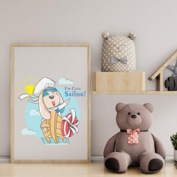 Tablou - Catelusul iꞌm cute sailor