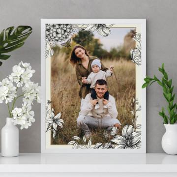 Tablou personalizat cu o poza si flori