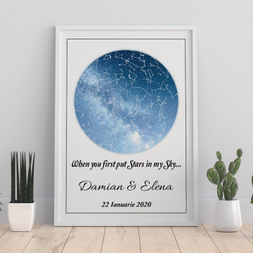 Tablou personalizat Harta Stelelor - When you first put stars in my sky