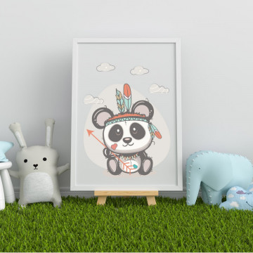 Tablou - Ursuletul panda trib indian