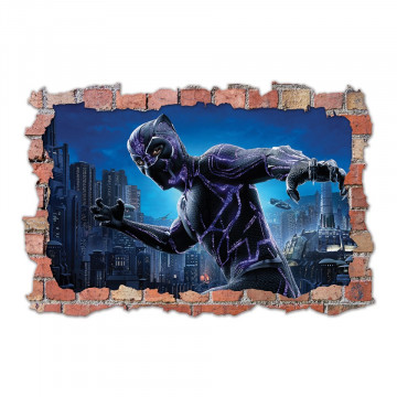 3D Sticker perete 60x90cm - Black Panther 2