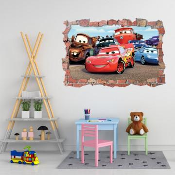 3D Sticker perete 60x90cm - Cars