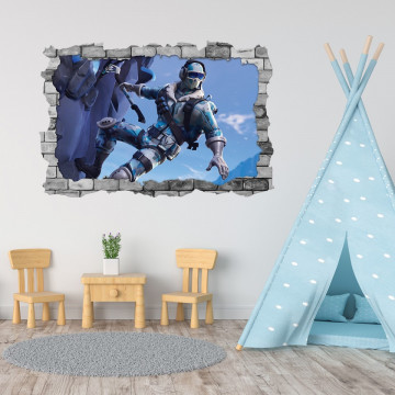 3D Sticker perete 60x90cm - Fortnite 3