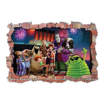 3D Sticker perete 60x90cm - Hotel Transilvania1