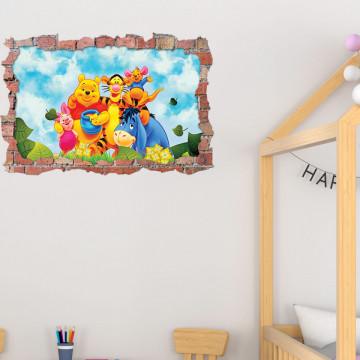 3D Sticker perete 60x90cm - Winnie
