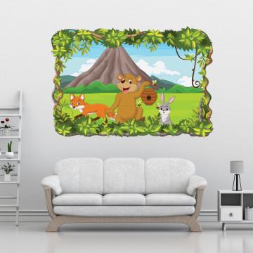 3D Sticker perete - Animale salbatice14