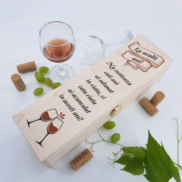 Cutie vin personalizata - Doua texte