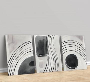 Set 3 Tablouri Canvas, Abstract art