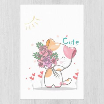 Set 3 tablouri - Pisicutele i love you