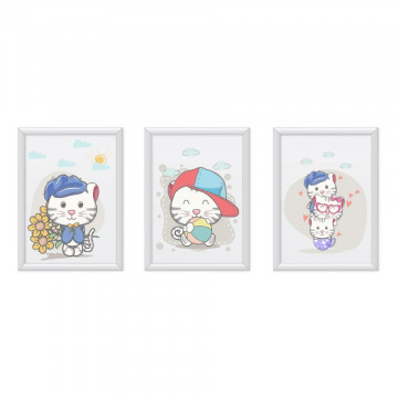 Set 3 tablouri - Pisicutele