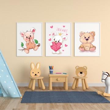 Set 3 tablouri - Ursuletul
