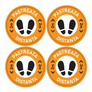 Set Stickere - Autocolante Informare si atentionare Coronavirus - Covid-19, Model 9