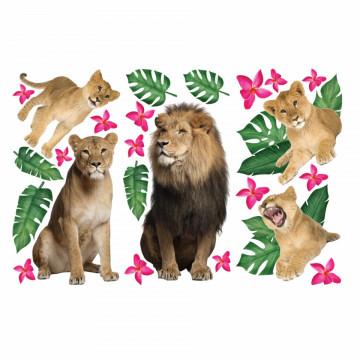 Set stickere decorative perete copii - Animale in Salbatice12 , 60x90cm