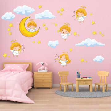 Set stickere decorative perete copii - Ingerasii 60x90cm
