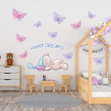 Set stickere decorative perete copii - Ursulet somnoros5 , 60x60cm