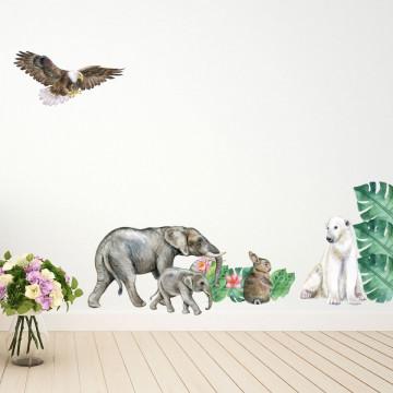 Set stickere decorative perete copii - Woodland3, 60x90cm
