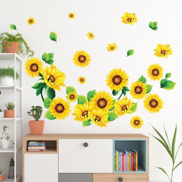 Set stickere decorative perete - Floarea Soarelui, 60x90cm