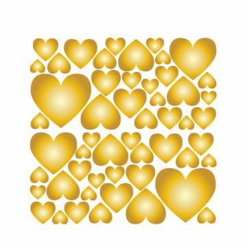 Set stickere decorative perete - Inimioare2, 60x60cm