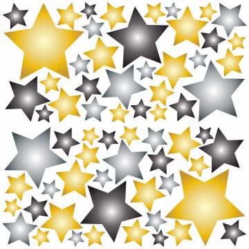 Set stickere decorative perete - Stelute 20, 60x60cm
