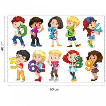 Stickere Educationale copii - Numerele cu copii, set 40x60cm