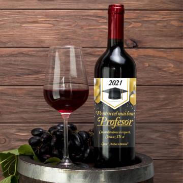 Sticla vin Personalizata - Absolvire