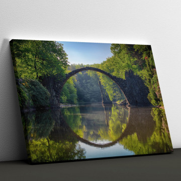 Tablou Canvas, Podul peste rau