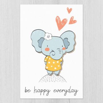 Tablou - Elefantul - Be happy everyday