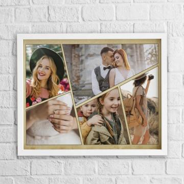 Tablou personalizat cu cinci poze